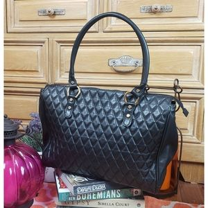 Marino Orlandi Quilted Leather XL Travel Tote Bag